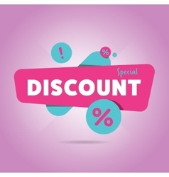 Special discount advertisement promo banner vector