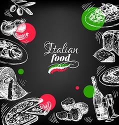 Restaurant chalkboard italian cuisine menu design vector