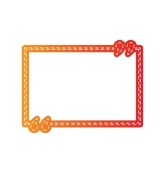 Text quote sign orange applique isolated vector