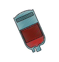 Blood bag isolated vector
