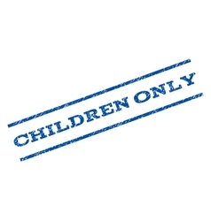 Children only watermark stamp vector