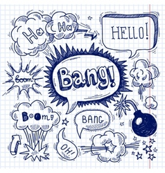 Comic text bubble blank vector image vector image