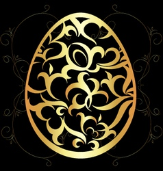 Easter egg with a pattern vector image vector image