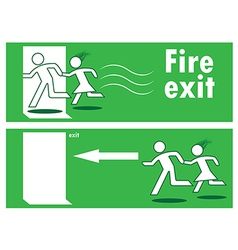 Emergency fire exit vector