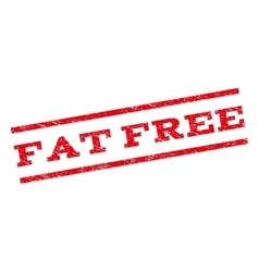 Fat free watermark stamp vector