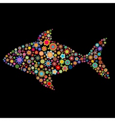fish shape vector image