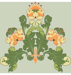 floral antique vector image vector image