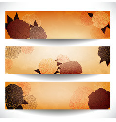 Floral banner set vector