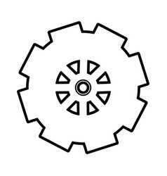 gear wheel design vector image vector image