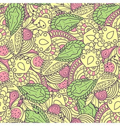 Hand drawn spring seamless pattern vector image vector image