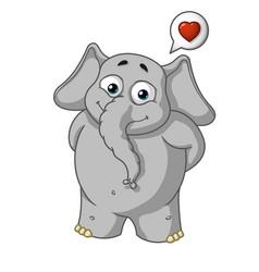 he is in love he has a big heart vector image vector image