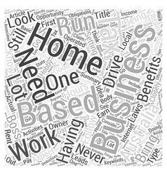 Home based business australia word cloud concept vector