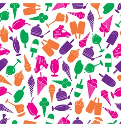 ice cream colorful seamless pattern eps10 vector image