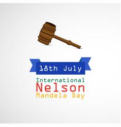 International nelson madela day vector