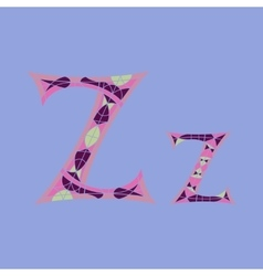 Low poly letter z in colored mosaic polygon vector