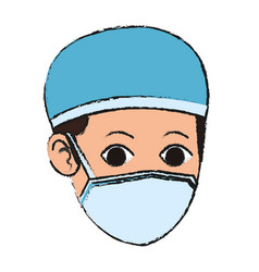 Man medical nurse icon vector