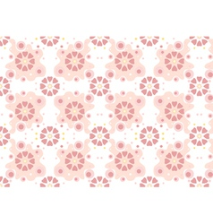 Maroon flowers on pink curved forms vector