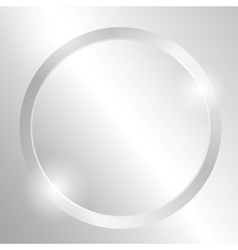 Metal background with circle vector image vector image