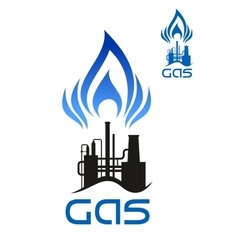 Oil and natural gas industrial factory vector