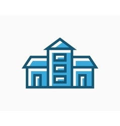 real estate icon or logo vector image
