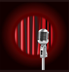 Retro microphone against the background vector