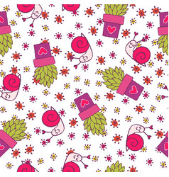 Seamless hand drawn summer pattern vector