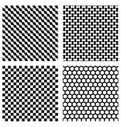 Set of black geometric patterns vector image vector image