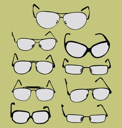 spectacle glasses and sunglasses vector image