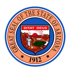 state seal of arizona vector image
