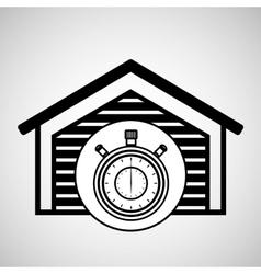 Storage building service clock timer vector