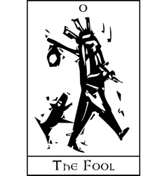 The fool tarot card vector