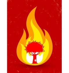 Tree fire vector