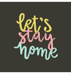 Typo stayhome13 vector