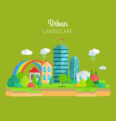 urban landscape concept in flat design vector image vector image