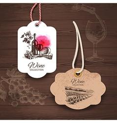 Vintage wine labels vector image