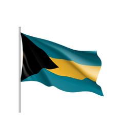 waving flag of bahamas vector image vector image