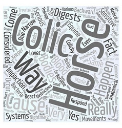 What causes colic word cloud concept vector