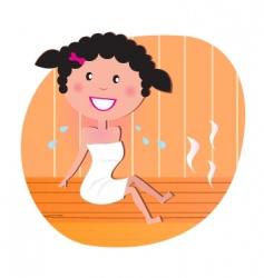 woman in sauna vector vector image vector image