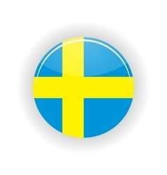 Sweden icon circle vector