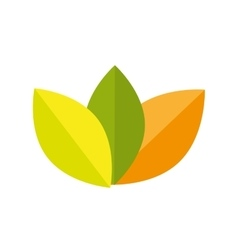 icon leaf recycle environment isolated vector image