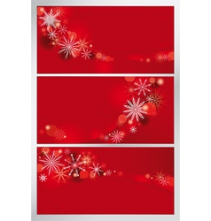 set of red backgrounds vector image