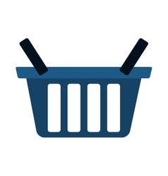 Blue basket shop market icon vector