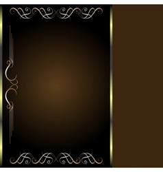 Luxury golden vintage card vector image