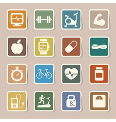 Fitness and Health icons EPS10 vector image