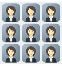 Emotions of business woman vector