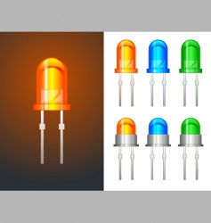 Led lights vector