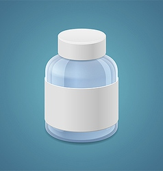 Large jar for drugs vector