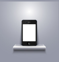 Modern smartphone on shelf vector