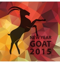 Chinese new year 2015 goat with golden geometric vector