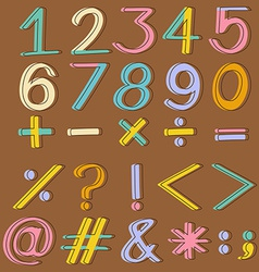 Numbers and mathematical operations vector